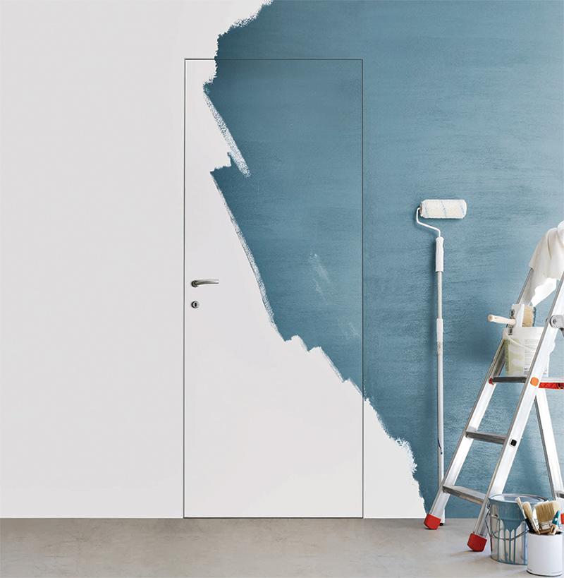 Porte a filo muro a trieste cvm s r l - Porta filo muro prezzo ...